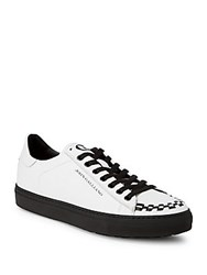 John Galliano Braided Leather Sneakers White