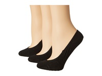 Sperry Solid Micro Liner 3 Pair Black Women's Crew Cut Socks Shoes