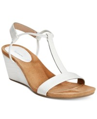 Styleandco. Style Co. Mulan Wedge Sandals Only At Macy's Women's Shoes White