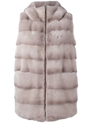 Liska Padded Sleeveless Jacket Grey