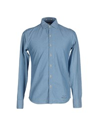 Replay Shirts Shirts Men Azure