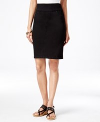 Styleandco. Style And Co. Pull On Pencil Skirt Only At Macy's Black Rinse