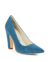 Anne Klein Hollyn Suede Point Toe Heels Turquoise