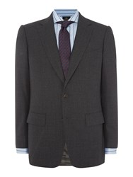 Chester Barrie Elverton Weave Suit Charcoal