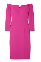 Safiyaa Terese Off The Shoulder Crepe Dress Fuchsia