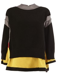 Undercover Layered Jumper Black