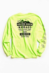 Urban Outfitters Golden Hour Long Sleeve Tee Lime