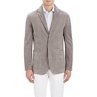 Cifonelli Men's Suede Single Button Blazer Grey