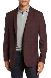Vince Camuto Dell Aria Unconstructed Blazer Port Plaid