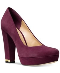Michael Kors Sabrina Platform Pumps Women's Shoes Plum