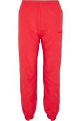 Vetements Paneled Shell Track Pants Red