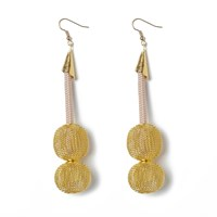 Pichulik Neutral Ball Earrings Gold Brown Nude