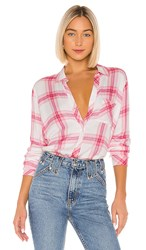 Rails Breast Cancer Awareness Hunter Button Down In Pink. Warrior Pink