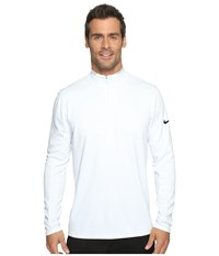 Nike Dri Fit 1 2 Zip Long Sleeve Top White Wolf Grey Black Men's Long Sleeve Pullover Gray