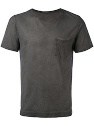 Massimo Alba Pocketed T Shirt Grey