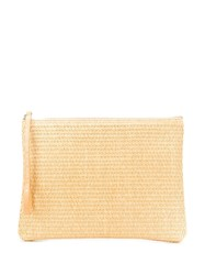 Golden Goose Raffia Clutch Bag Neutrals