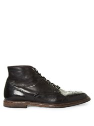 Dolce And Gabbana Marsella Leather Brogue Boots Black