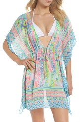 Lilly Pulitzer Gardenia Tie Waist Cover Up Multi Catch The Wave