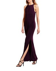 Lauren Ralph Lauren Mesh Back Jersey Gown Raisin
