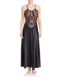Flora Nikrooz Lace And Satin Gown Black