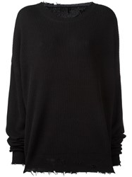 Unravel Project Oversized Jumper Black