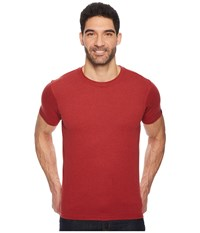 Prana R Crew Tee Crimson Heather Short Sleeve Pullover Purple