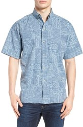 Reyn Spooner Men's Pine Place Sport Shirt Navy