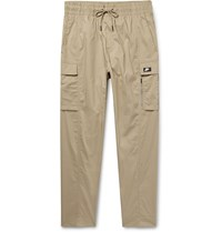 Nike Tapered Stretch Cotton Blend Cargo Trousers Neutrals