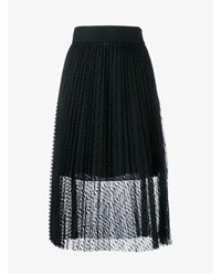 Philosophy Sheer Layered Pleated Skirt Black