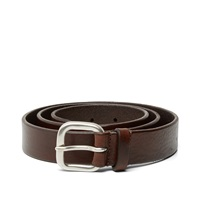 Andersons Anderson's Burnished Leather Belt Dark Brown