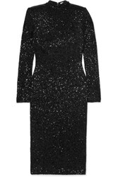 Rebecca Vallance Mica Sequined Crepe Dress Black