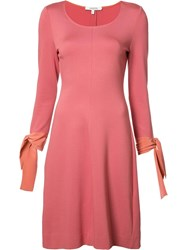 Dorothee Schumacher Lace Up Sleeves Dress Pink Purple