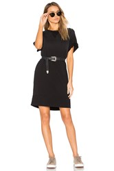 Rag And Bone Washed Terry Dress Black