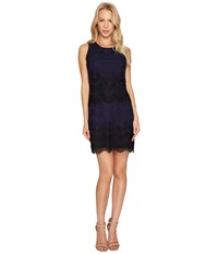 Jessica Simpson Tiered Lace Dress Js4r4533 Navy Black Blue