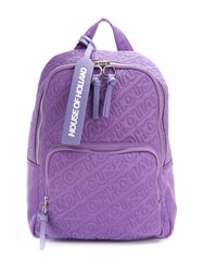 House Of Holland Embroidered Logo Backpack Purple