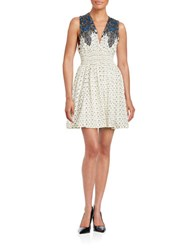 Free People Printed Knit Dress Ivory