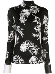 Loewe Feather Print Turtle Neck Top 60