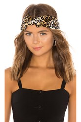 Jennifer Behr Marin Leopard Turban Brown