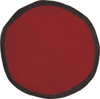 Nani Marquina Aros Round 1 Rug Small 3 Feet 3 Inches Dia Red
