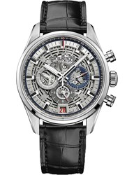Zenith 03.2081.400 78.C813 Chronomaster El Primero Full Open Leather Watch