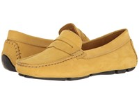 Massimo Matteo Penny Keeper Amarelo Nubuck Moccasin Shoes Yellow