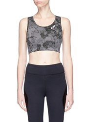 2Xu 'X Vent' Cropped Performance Cropped Top Multi Colour Grey