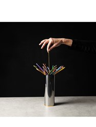 L'atelier D'exercices Mirrored Metal Pencil Holder