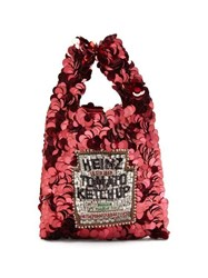 Anya Hindmarch Heinz Ketchup Sequinned Tote Red Multi