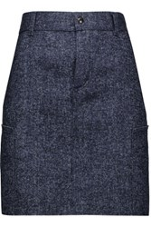 Tom Ford Denim Tweed Mini Skirt Dark Denim