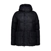 Stone Island Real Hooded Down Jacket Navy Blue