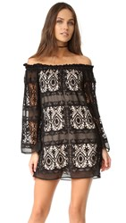 Liv Mantilla Off The Shoulder Dress Black