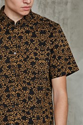 Forever 21 Slim Fit Ornate Print Shirt