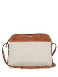 The Row Multi Pouch Canvas And Suede Cross Body Bag Tan Multi