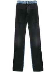 Palm Angels Two Tone Straight Leg Jeans 60